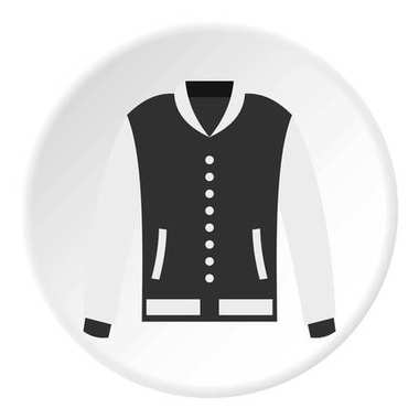 Baseball jacket icon in flat circle isolated vector illustration for web stock vector