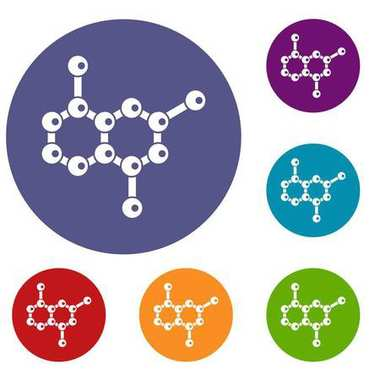 Molecule icons set