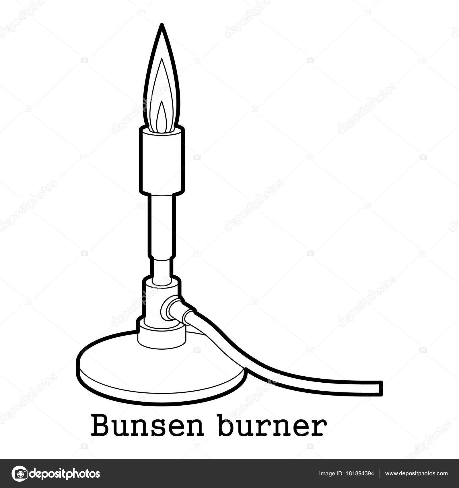 Bunsen burner icon outline stock vector ylivdesign 181894394 bunsen burner icon in outline style isolated on white background vector illustration vector by ylivdesign pooptronica Choice Image