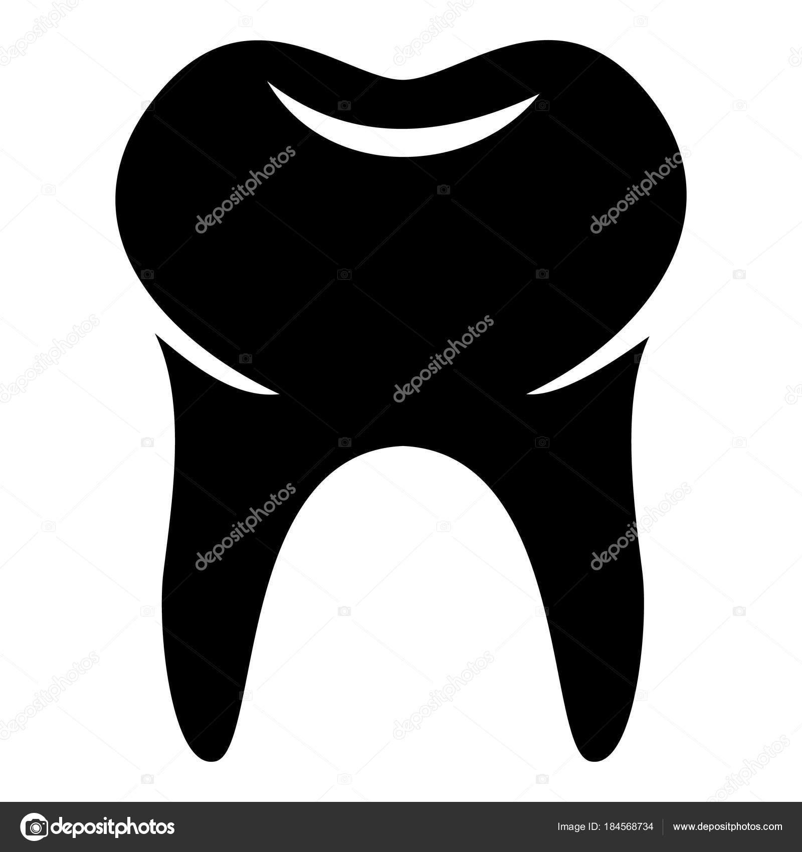 Icono de la muela del juicio, estilo simple — Vector de stock ...