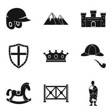 Rider icons set, simple style