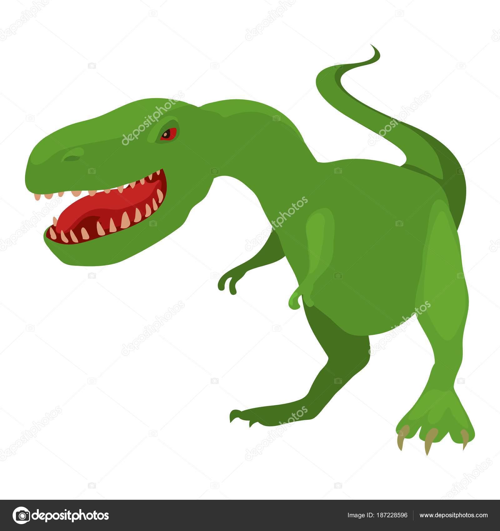Icono De Dinosaurio T Rex Estilo De Dibujos Animados Archivo