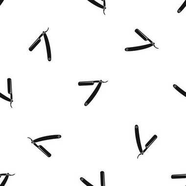 Razor blade pattern seamless black