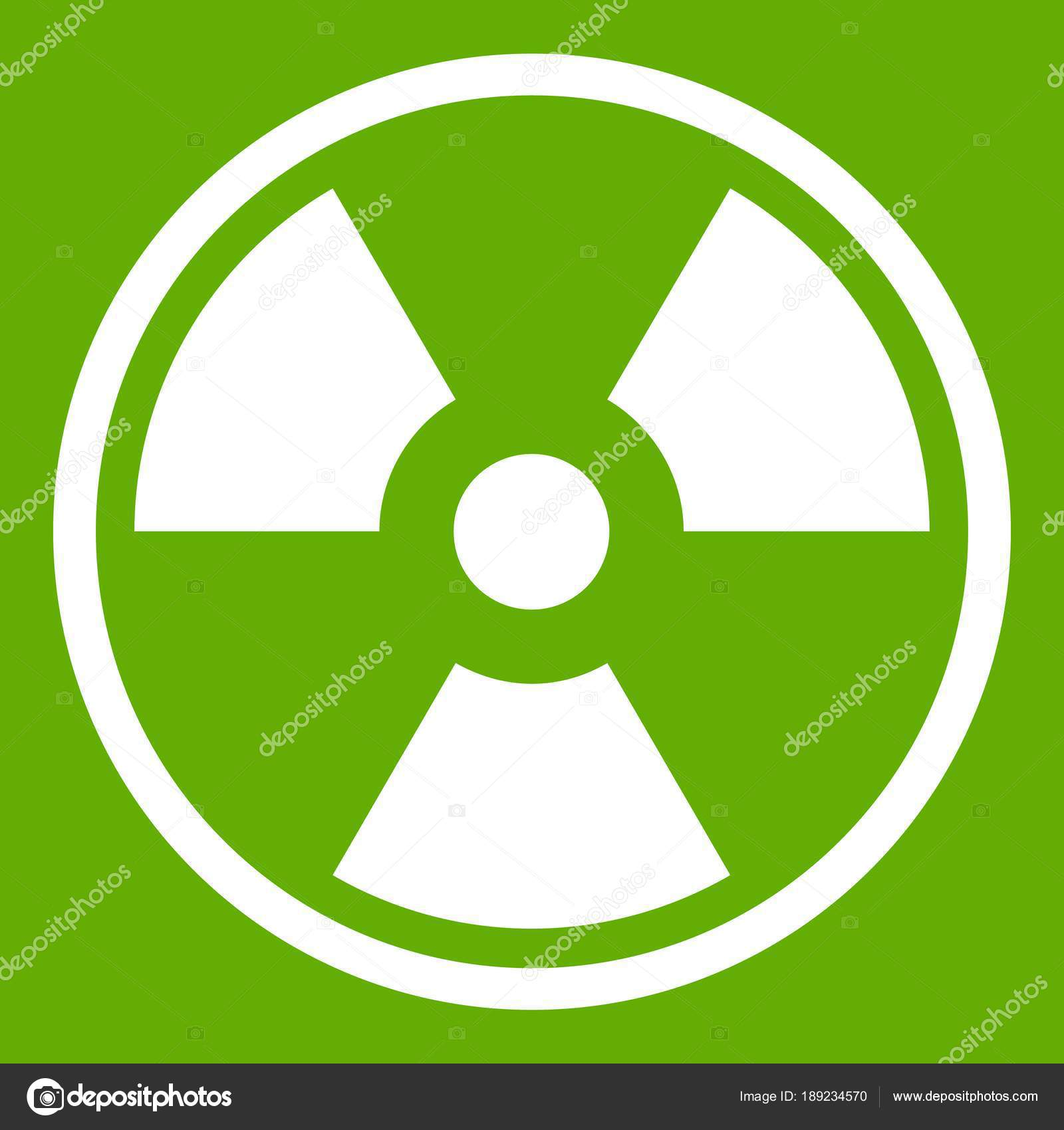 Danger Nuclear Icon Green Stock Vector Ylivdesign 189234570