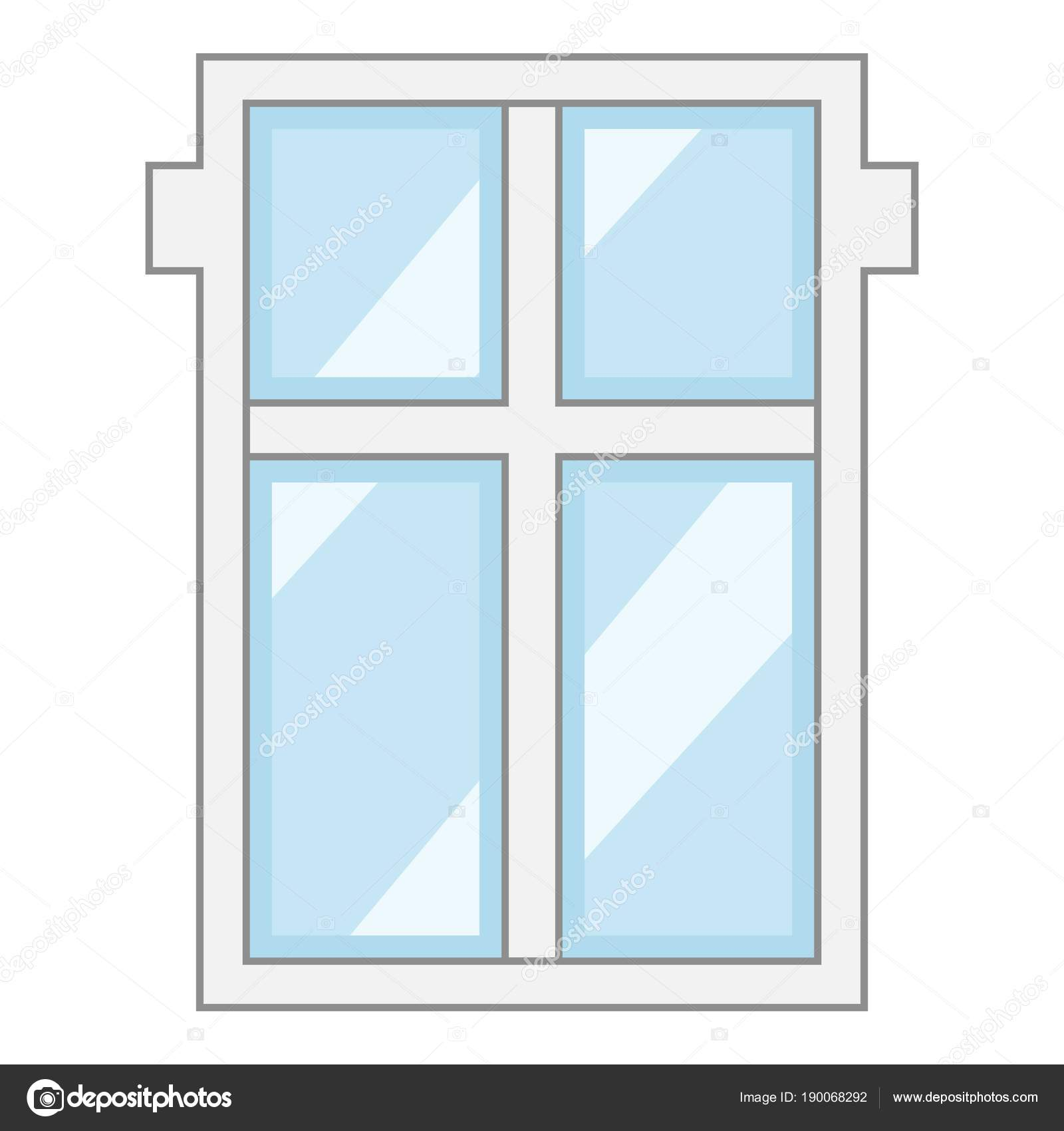 Big window frame icon, cartoon style — Stock Vector © ylivdesign ...