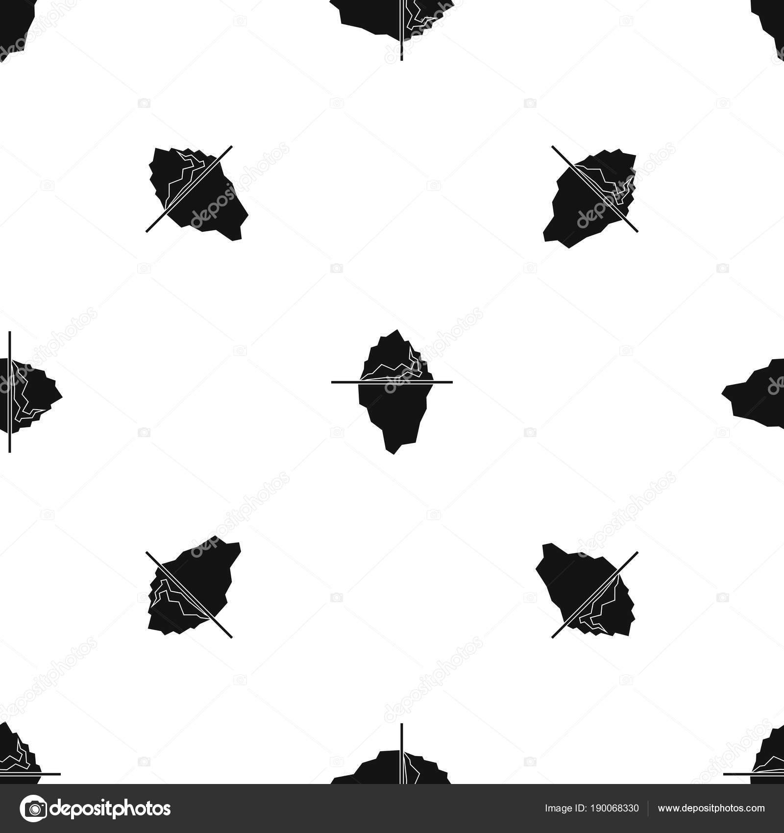 Sin costura blanca iceberg — Archivo Imágenes Vectoriales ...