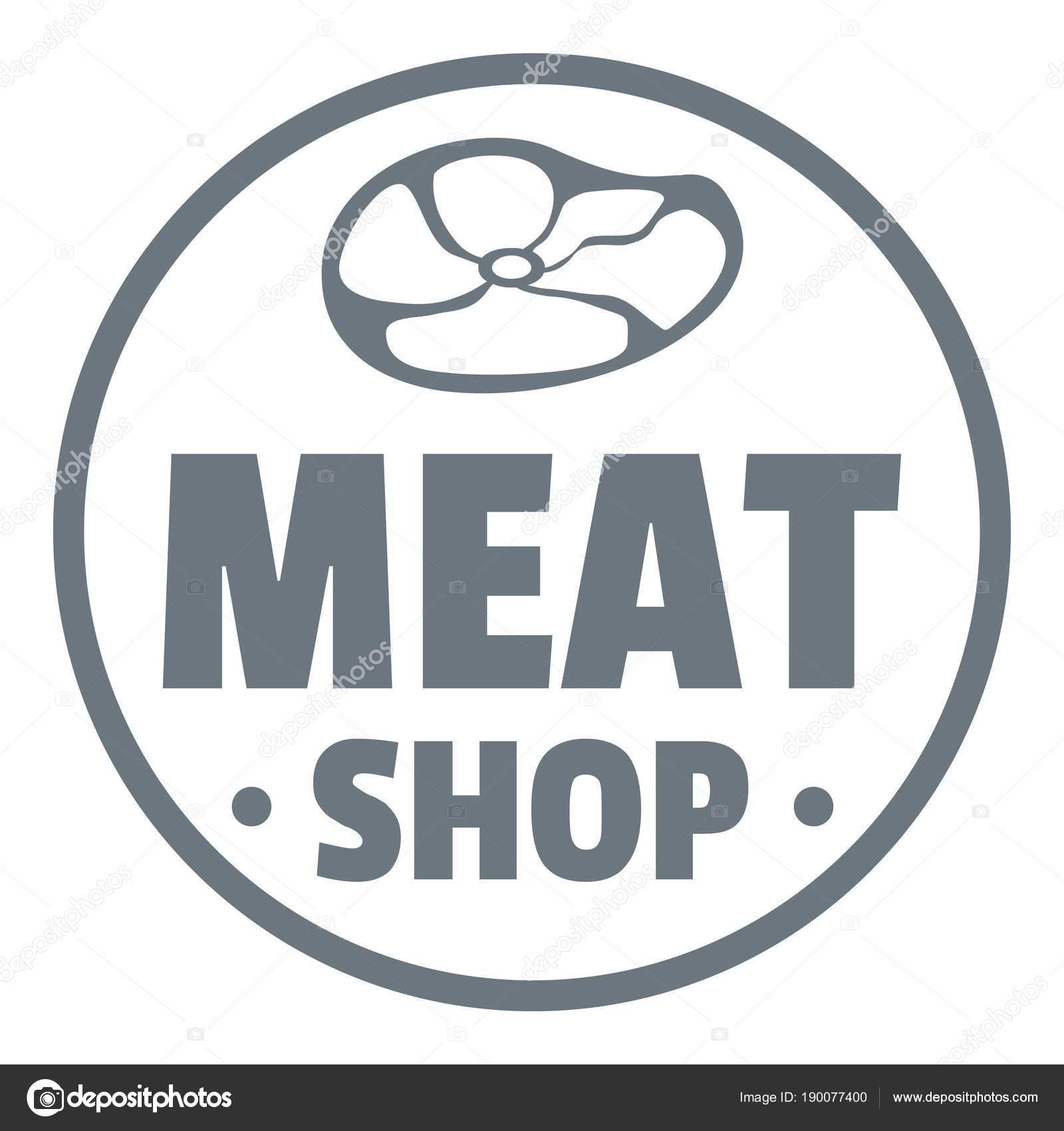 f30348ab39 Logo sklepu nowoczesne mięsa. Prosta ilustracja nowoczesny mięsa sklep  wektor logo dla sieci web design na białym tle — Wektor od ...