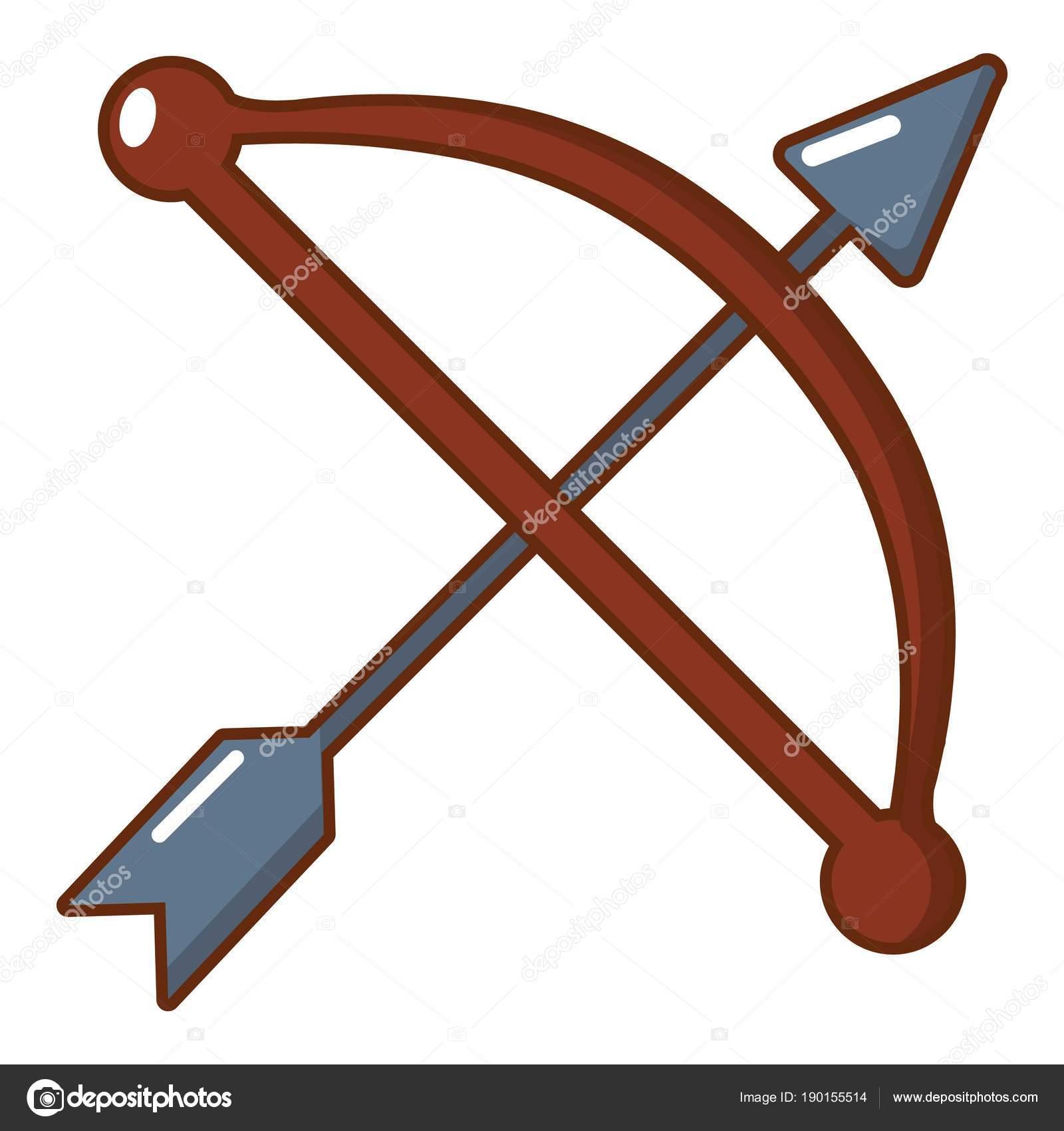bow and arrow weapon icon  cartoon style stock vector bow and arrow vector graphic bow and arrow logo vector