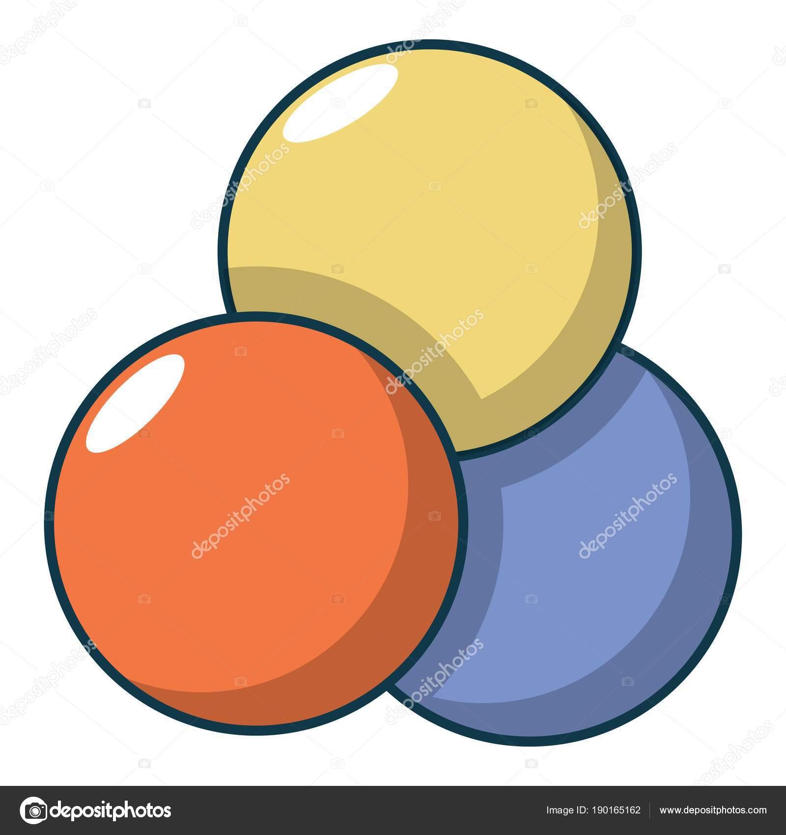 Icono De Bolas De Paintball Estilo De Dibujos Animados Vector De