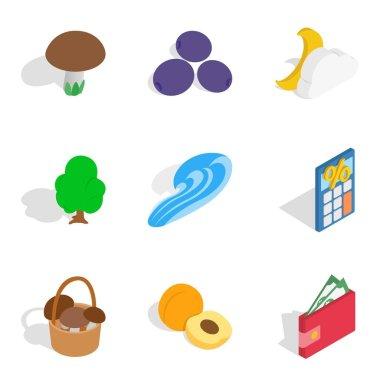Doable icons set, isometric style