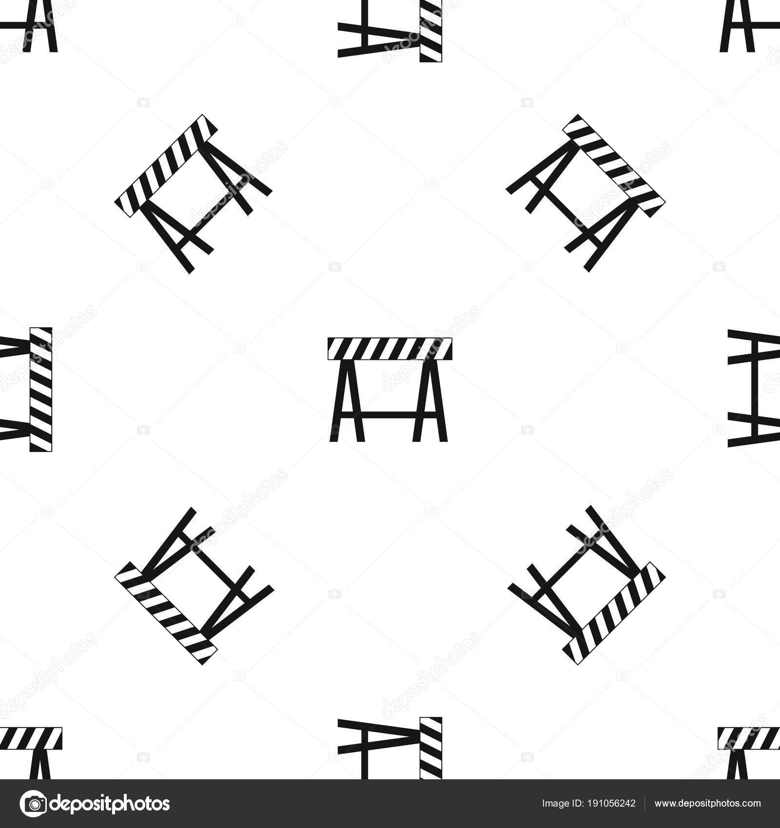 Verkehr-Schranke Muster nahtlos schwarz — Stockvektor © ylivdesign ...