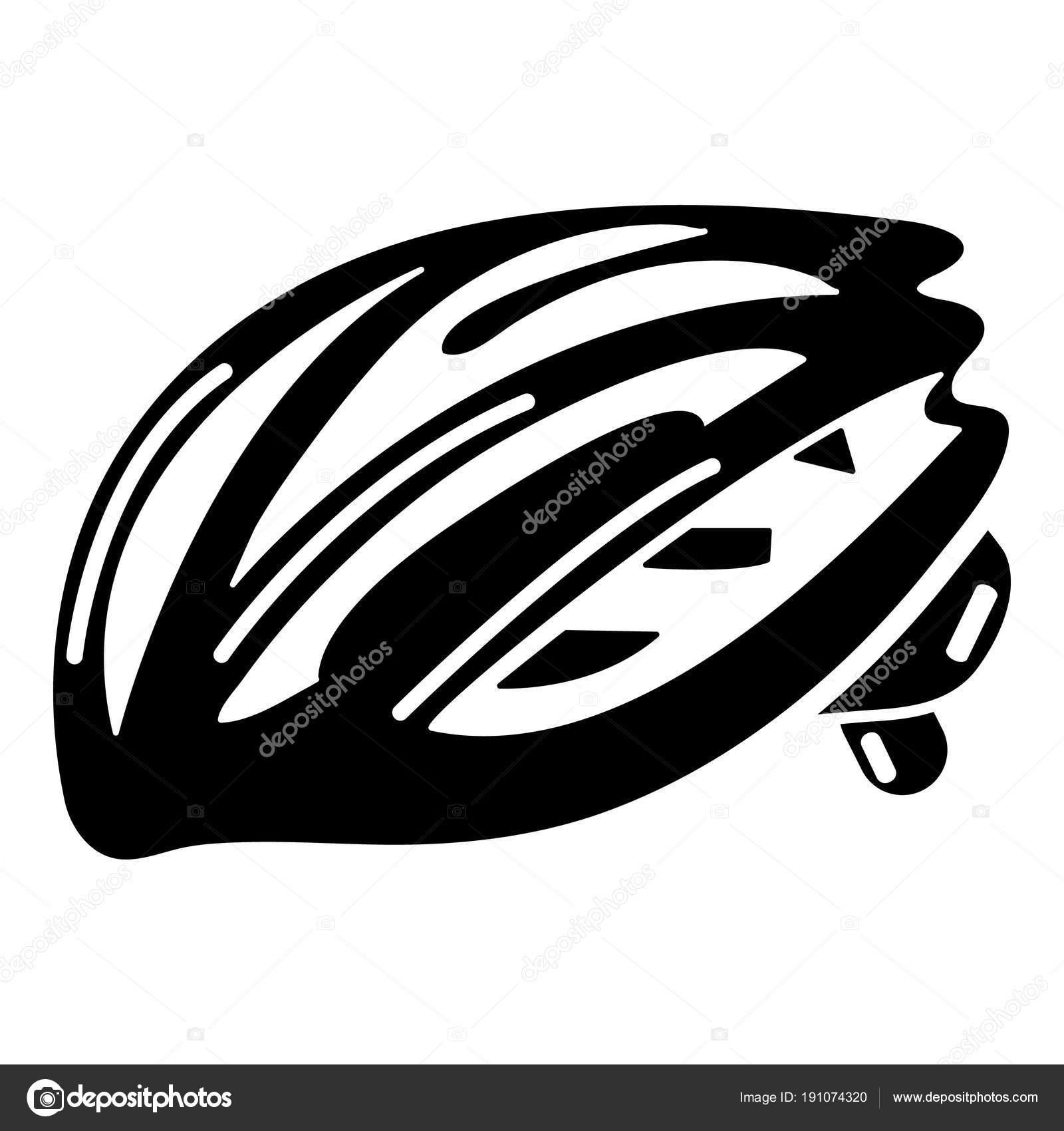 バイク ヘルメット保護アイコンシンプルな黒のスタイル ストック