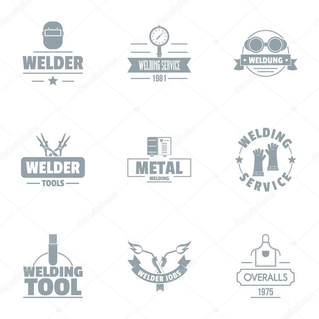 Welding Logo Set Simple Set Of 9 Welding Vector Logo For Web Isolated On White Background Premium Vector In Adobe Illustrator Ai Ai Format Encapsulated Postscript Eps Eps Format