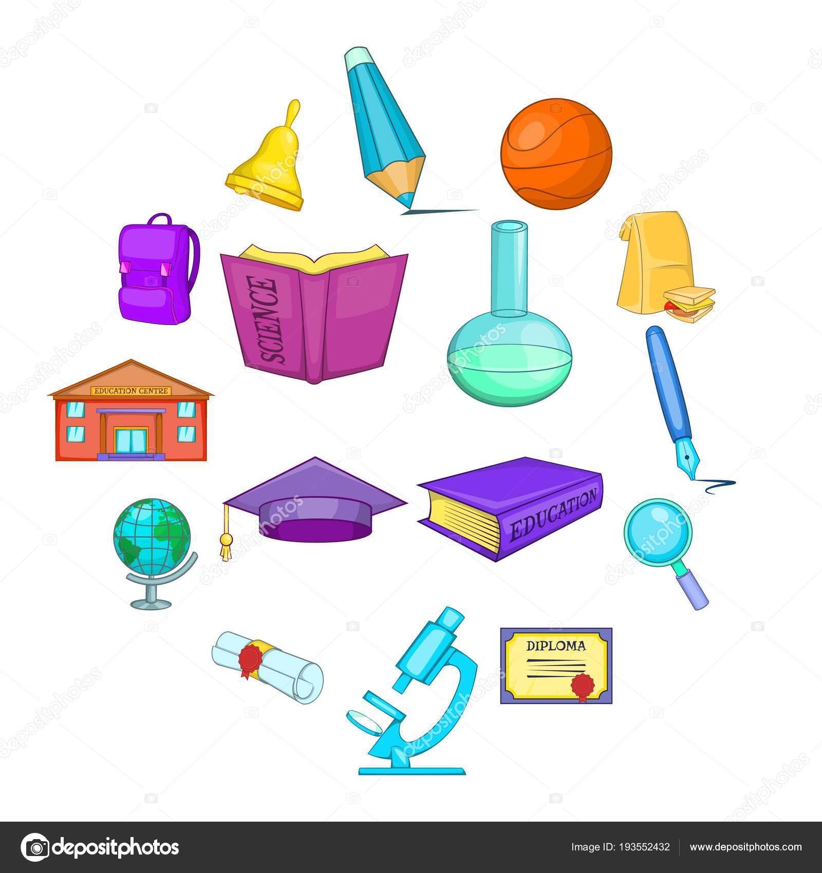 Dibujos Educacion Fisica Infantil Conjunto De Iconos De Educación