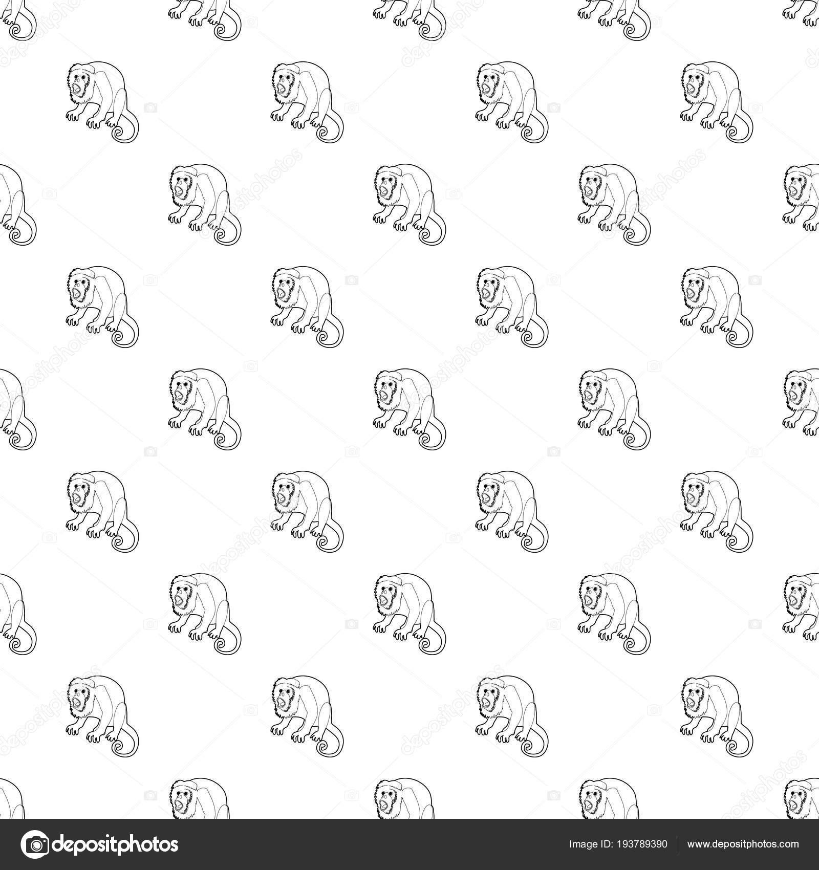 Vector patrón de mono sorprendido sin costura — Vector de stock ...
