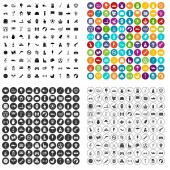 Fotografie 100 ball icons set vector variant