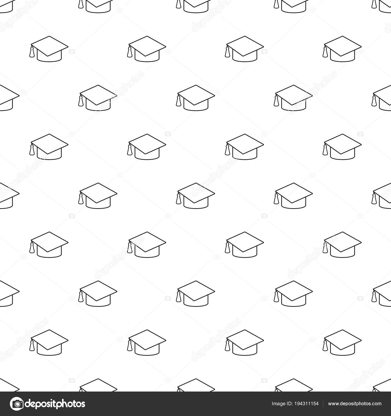 Vector de patrón de graduación tapa transparente — Vector de stock ...