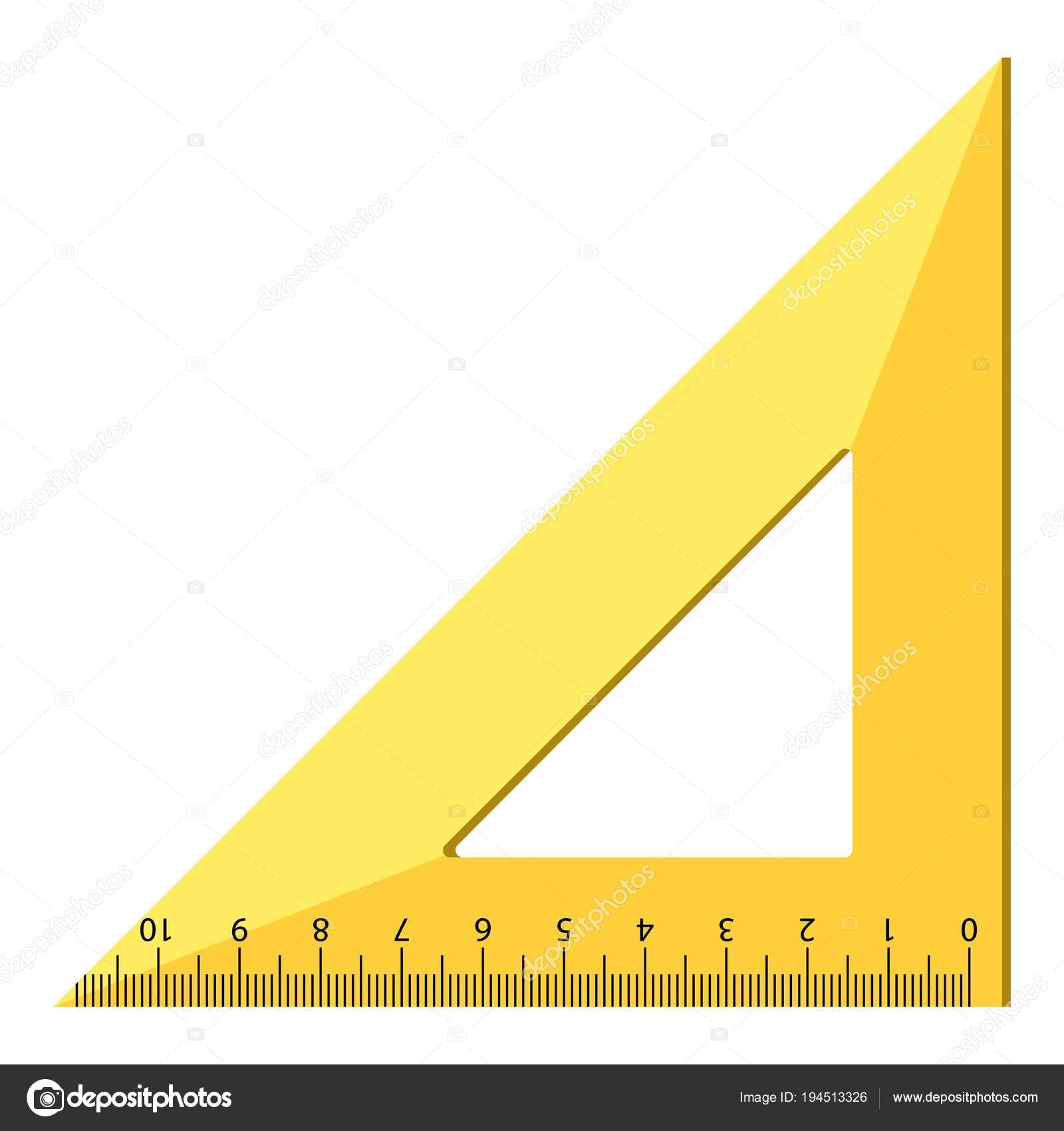 木製三角定規アイコン現実的なスタイル ストックベクター