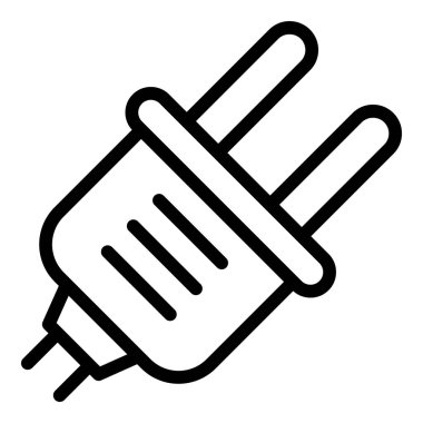 Europe plug icon, outline style