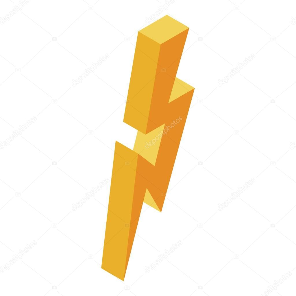 yellow powerful thunder icon isometric of yellow powerful thunder vector icon for web design isolated on white background premium vector in adobe illustrator ai ai format encapsulated postscript eps eps format yellow powerful thunder icon isometric