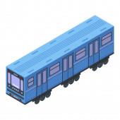 Ikone der U-Bahn-Waggons, isometrischer Stil