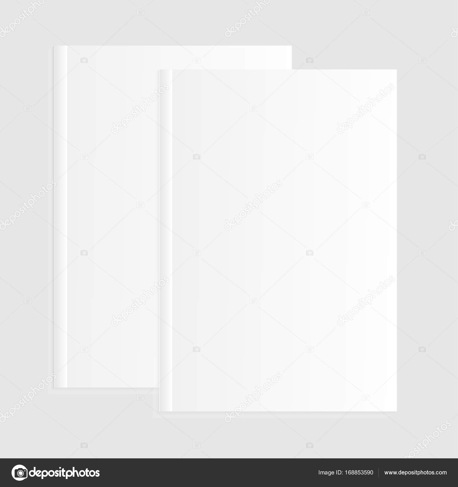 Blank Empty Magazine Or Book Or Booklet Brochure Catalog Template