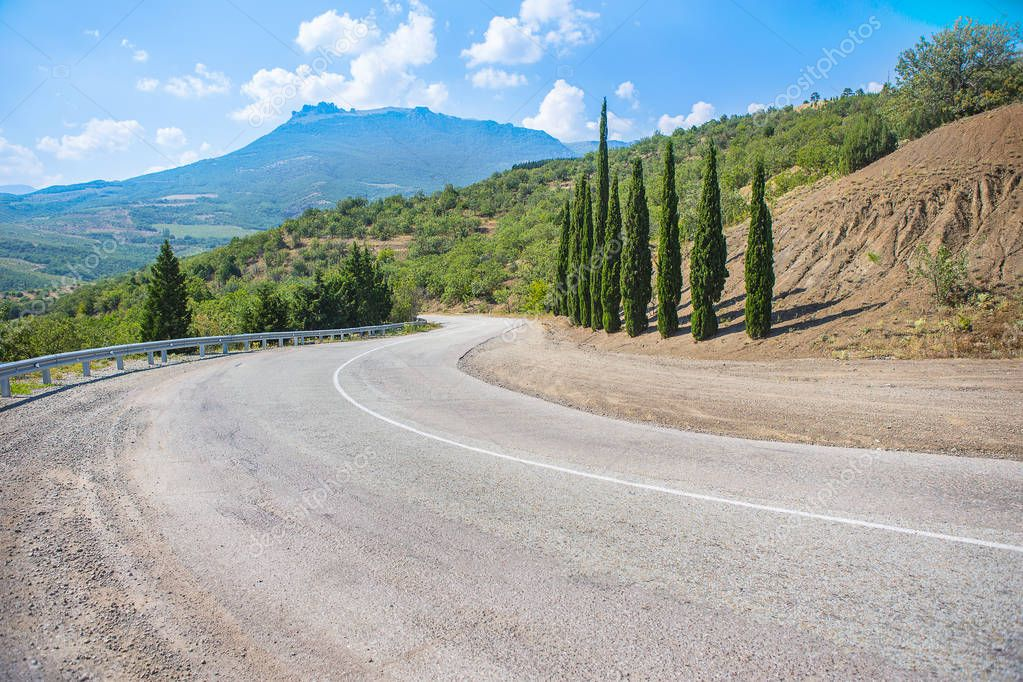 Crimea the twisting highway