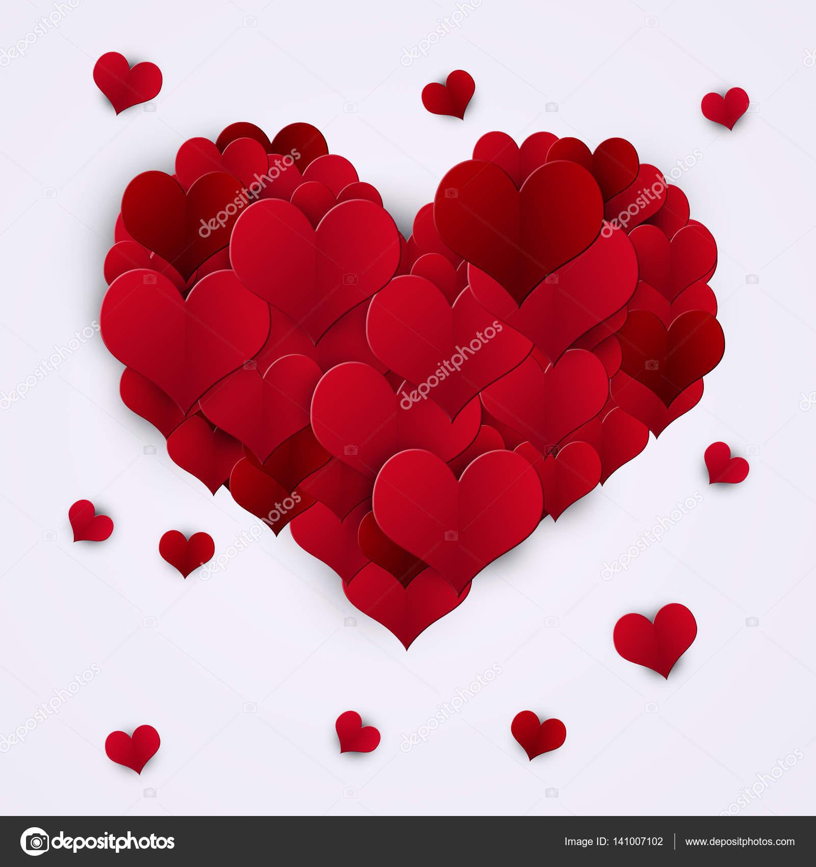 Decorazione di san valentino cuori rossi foto stock - Decorazione san valentino ...