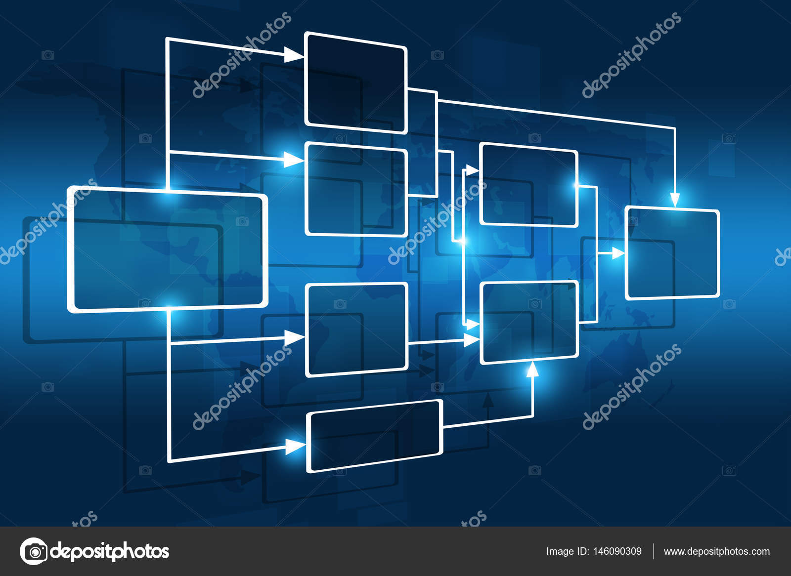 Business Flow Chart — Stock Photo © alexaldo #146090309