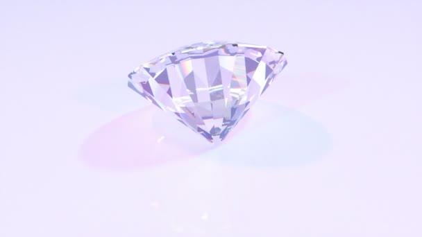 Diamant dreht sich um seine Achse 3D-Animation