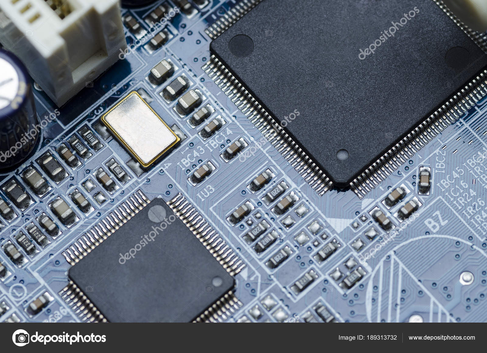 Printed Circuit Board Parts Chips Stock Photo Anborvl 189313732