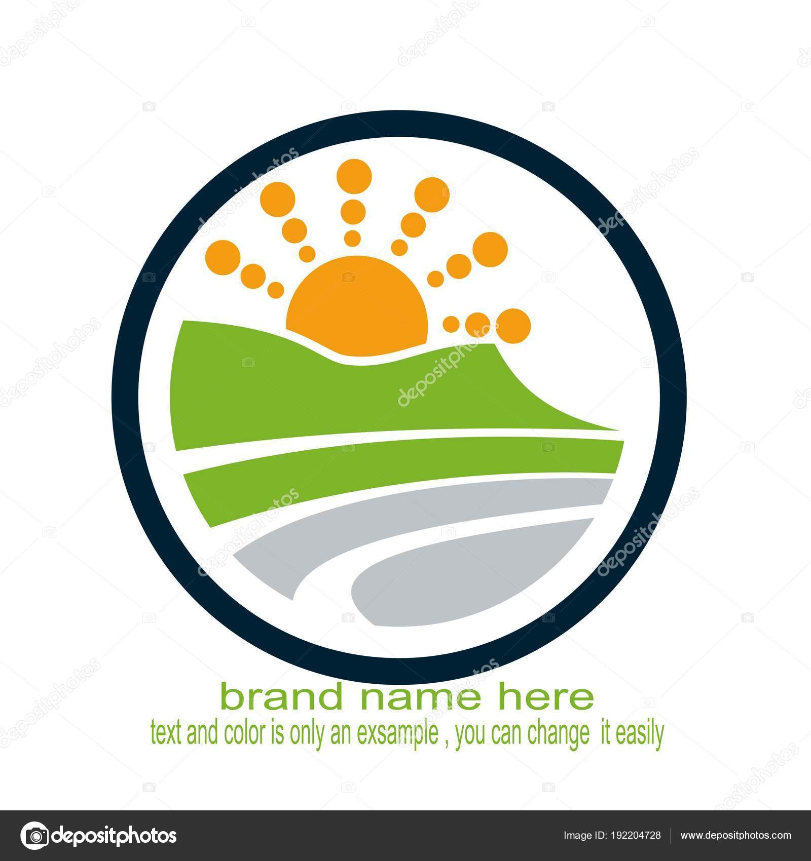 Creative Landscape Logo Nature Stock Vector