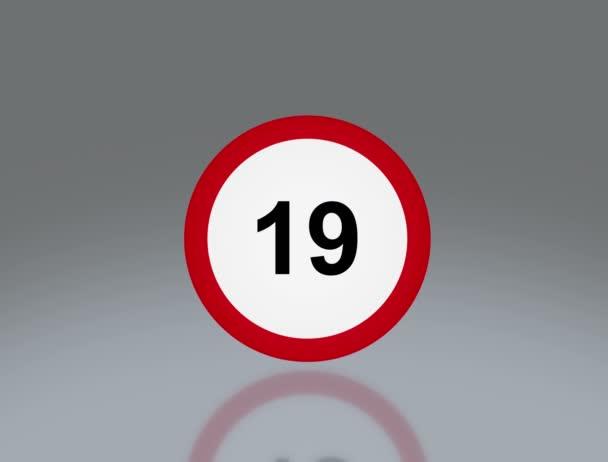 road sign Speed limit 4K