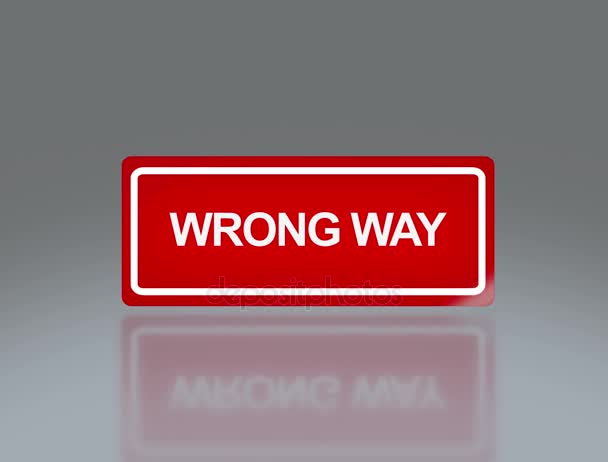 rectangle signage of wrong way 4K