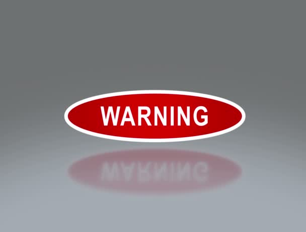 oval signage of warning 4K