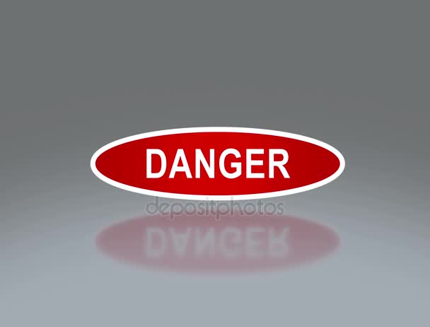 oval signage of danger 4K