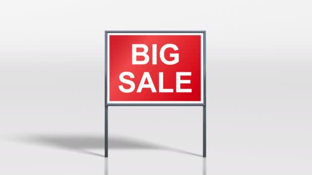 shop signage stand open and big sale 4k