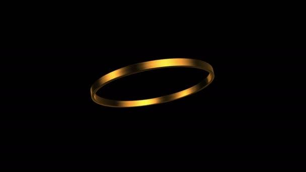arany gyűrű forgása 45 fokos szögben 4k