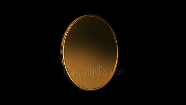 gold coin turning around 4K