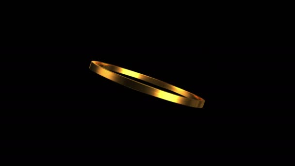 gold ring rotation 4K — Stock Video © realcg