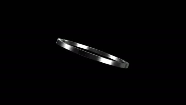 Ezüst gyűrű forgása 4k