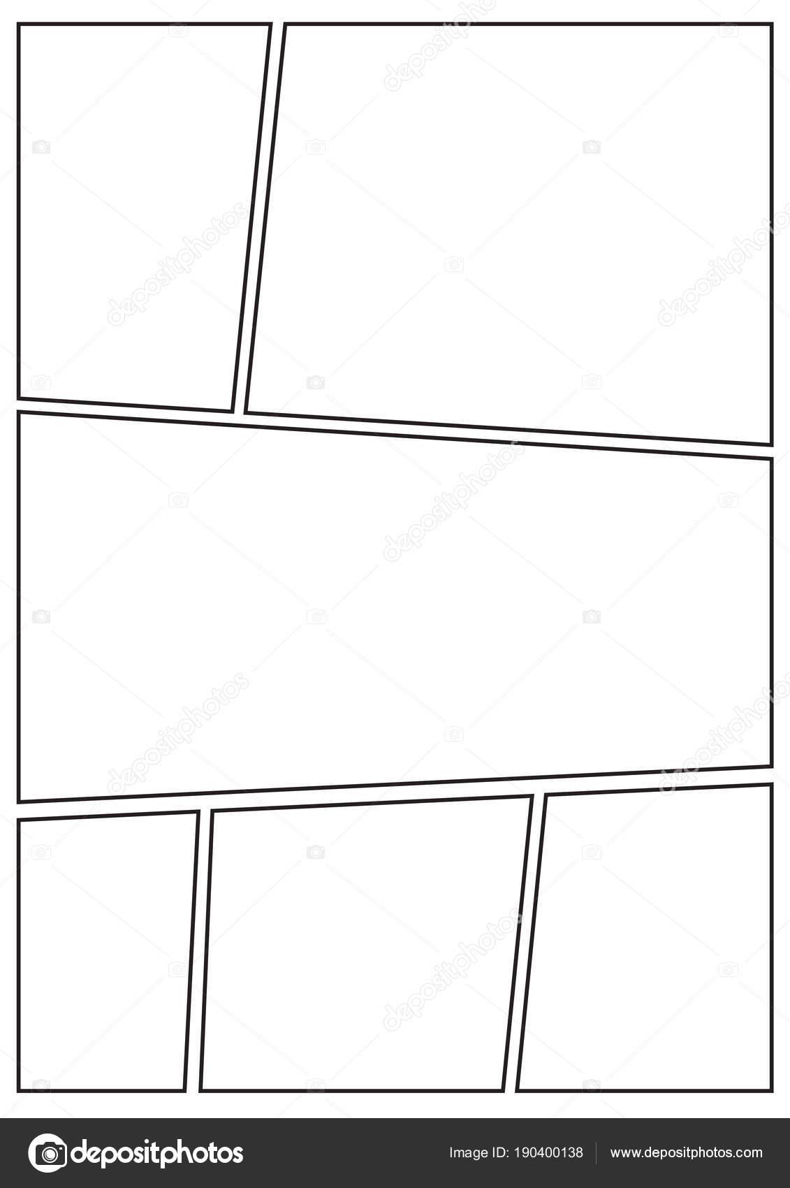 Manga Storyboard Layout dicken Strich b — Stockvektor © realcg ...