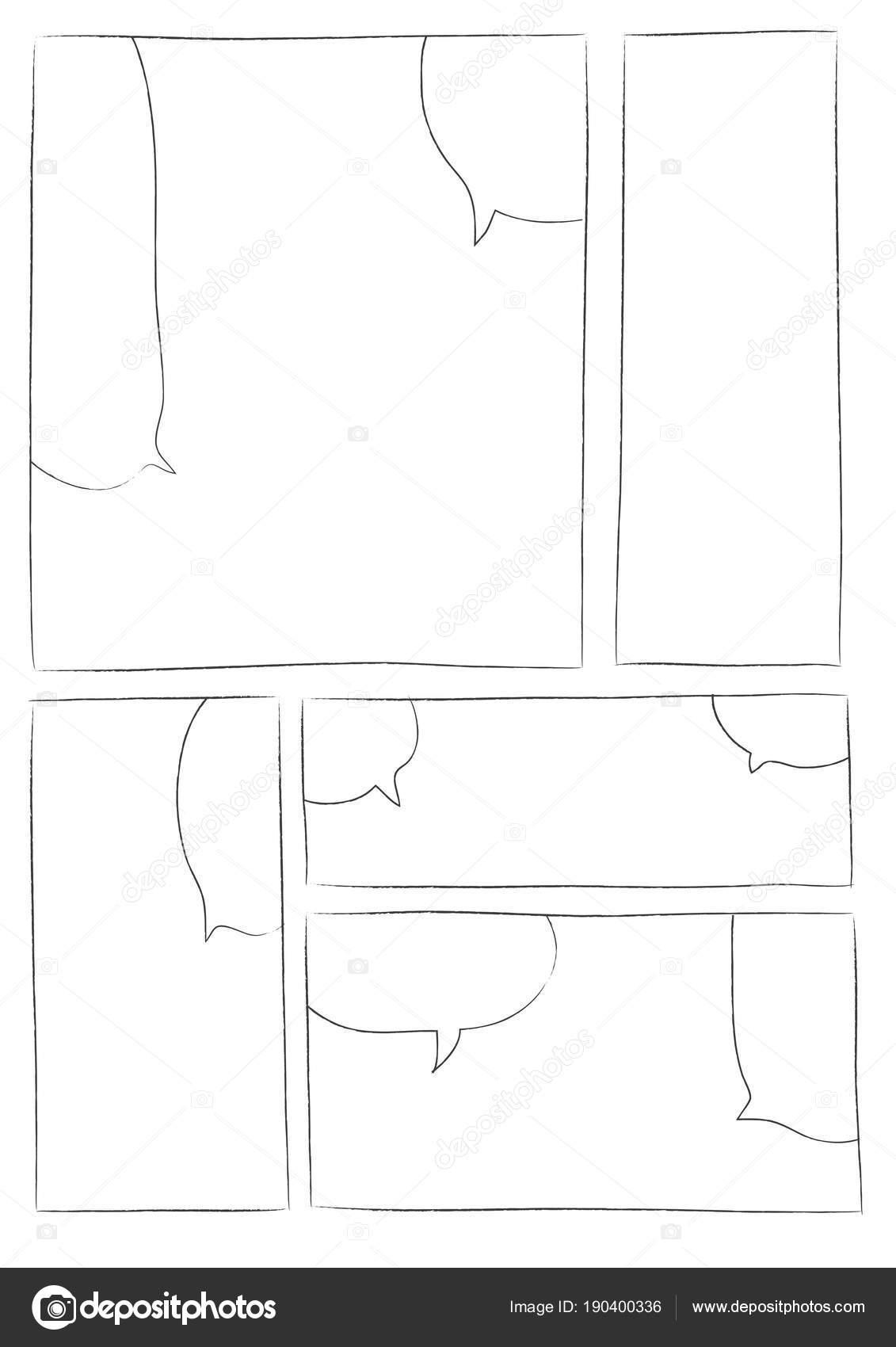 Manga-Storyboard-Layout-Pinselstrich ein — Stockvektor © realcg ...