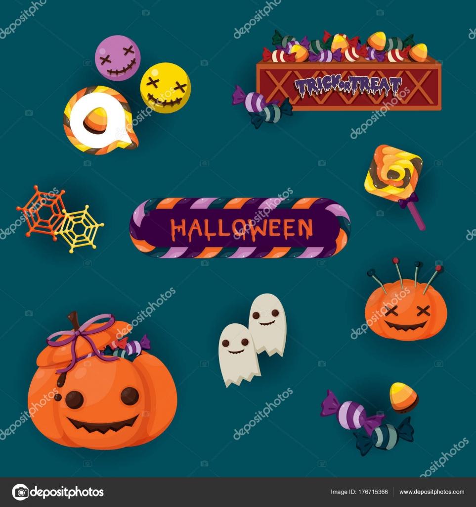 Halloween Artikelen.Halloween Leuke Objecten Verschillende Halloween Artikelen