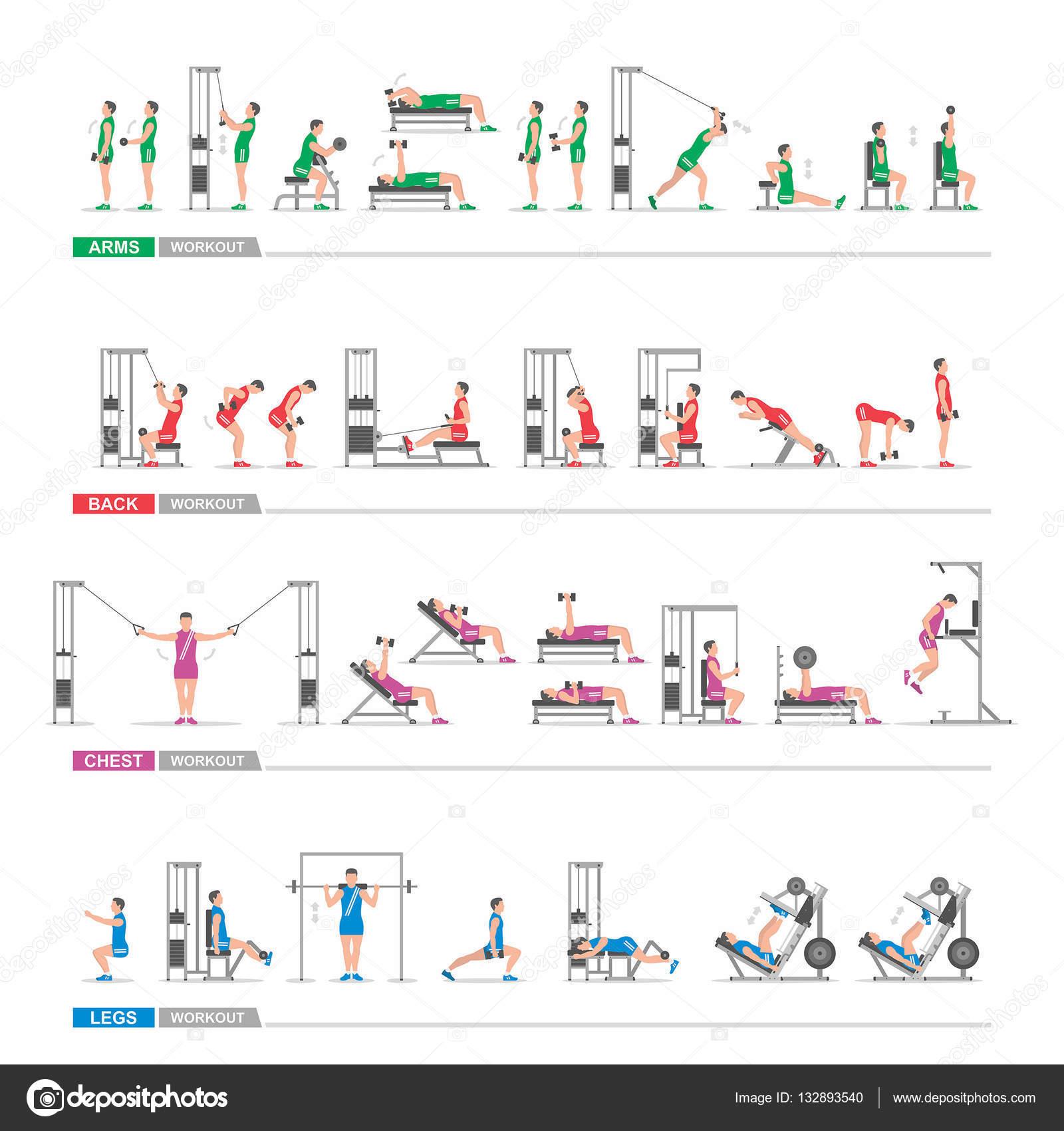 Tylko na zewnątrz zestaw ćwiczeń sportowych — Grafika wektorowa © Volykievgenii HB09