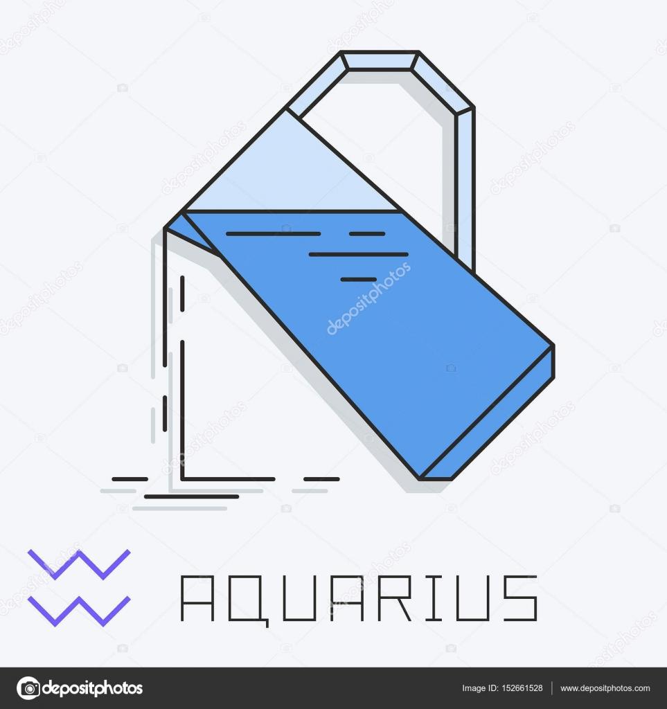 Aquarius horoscope symbols pictures image collections symbol and aquarius zodiac sign stock vector volykievgenii 152661528 aquarius zodiac sign horoscope symbol vector illustration vector by buycottarizona