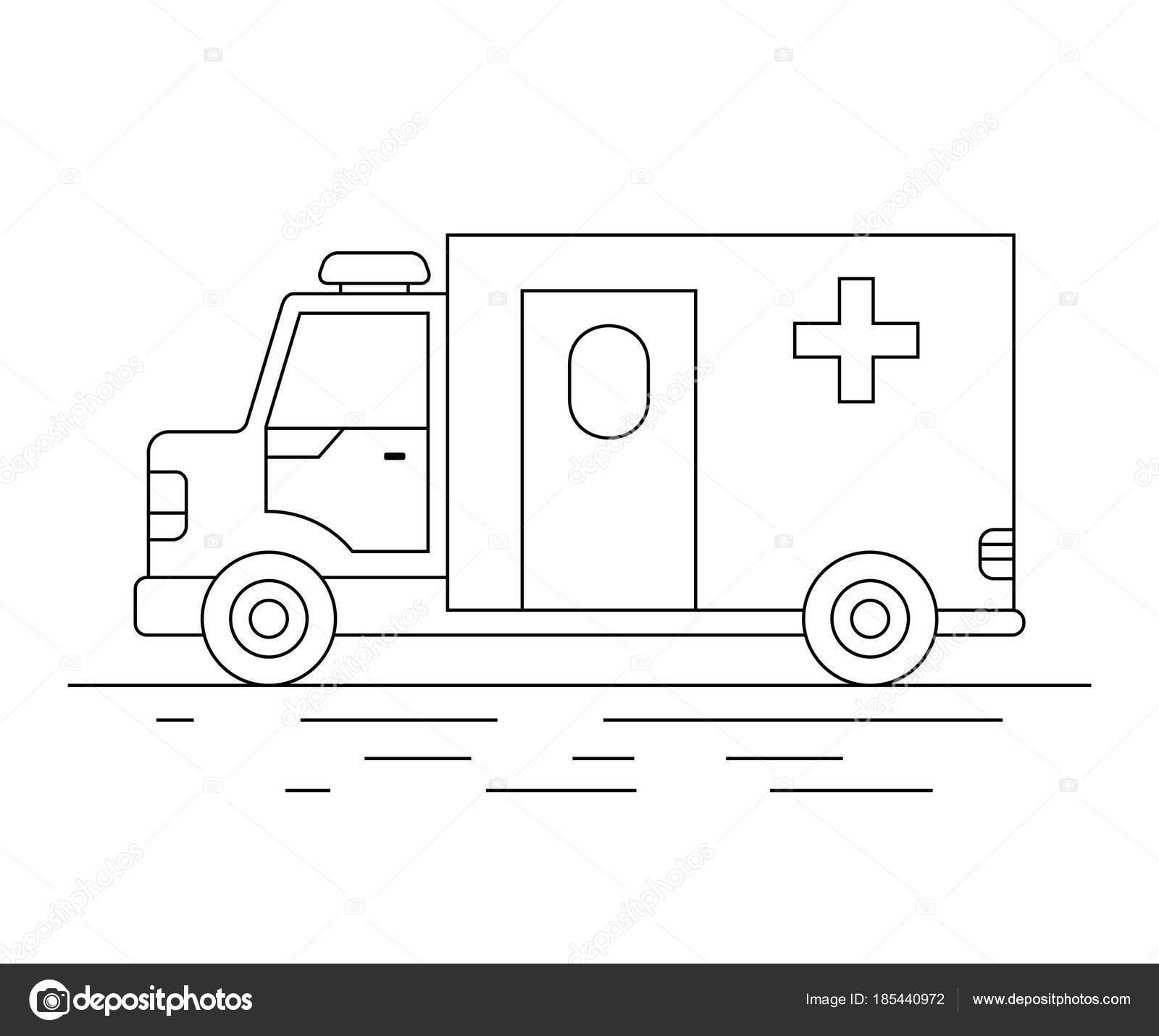 Dorable Car Coloring Pages Ambulancia Bandera - Ideas Para Colorear ...