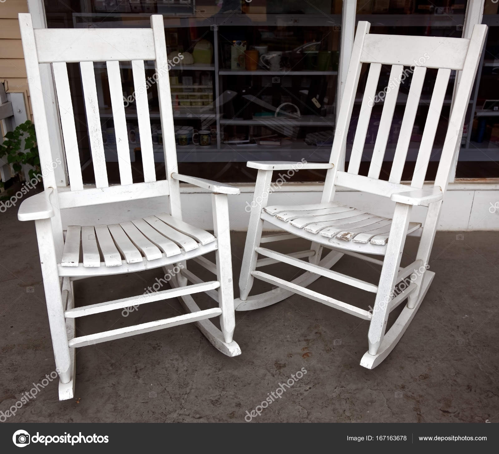 Surprising Porch Rocking Chairs Stock Photo C Errantpixels 167163678 Creativecarmelina Interior Chair Design Creativecarmelinacom