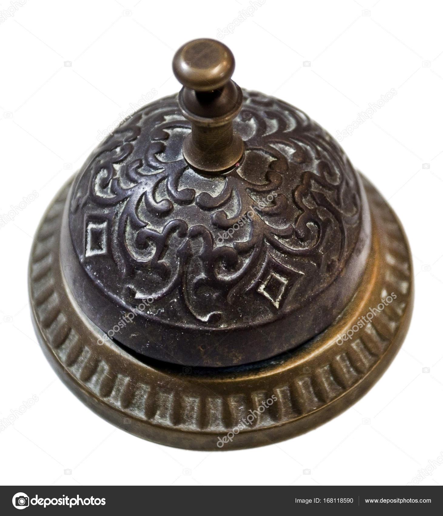 Vintage Hotel Desk Bell — Stock Photo - Vintage Hotel Desk Bell — Stock Photo © ErrantPixels #168118590