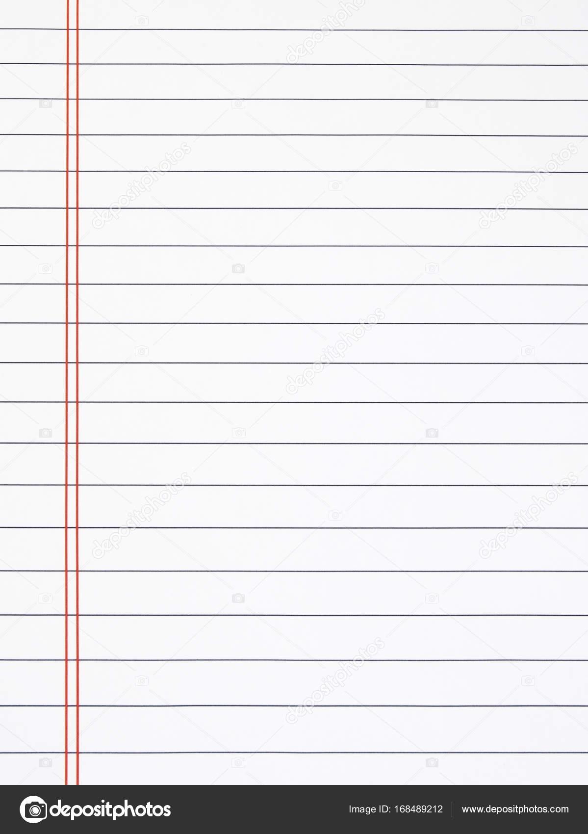 Leeres Blatt linierte Schreibpapier — Stockfoto © ErrantPixels ...